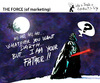 Cartoon: THE FORCE of marketing (small) by PETRE tagged christmas,santaclaus,gifts