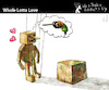 Cartoon: Whole Lotta Love (small) by PETRE tagged love,wood,wish,lust
