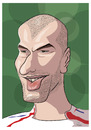 Cartoon: Zinedine Zidane (small) by PETRE tagged zidane football caricature