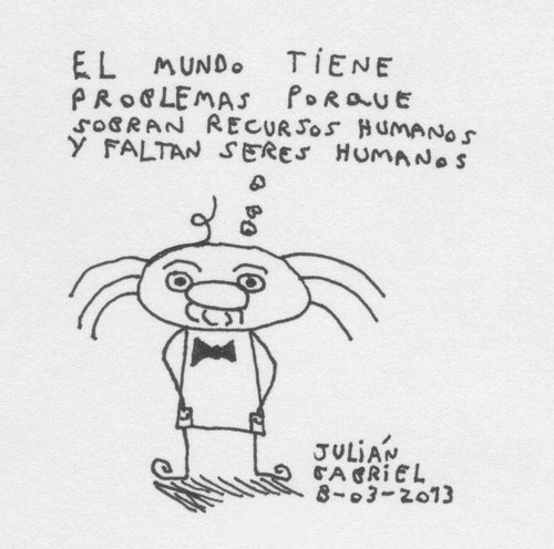 Cartoon: 8-03-2013 (medium) by Juli tagged humans,humanos,world,mundo,quinpha,beings,seres,resources,recursos