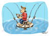 Cartoon: fishing (small) by fritzpelenkahu tagged fishing