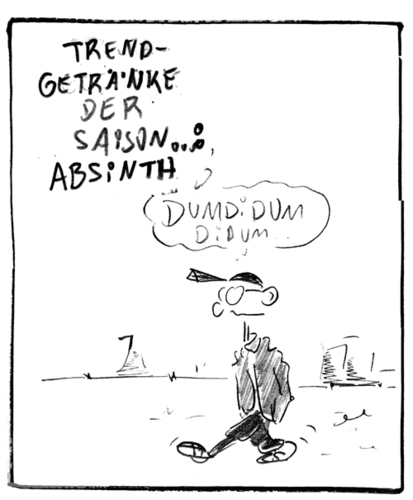 Cartoon: Absinth (medium) by Matthias Stehr tagged alkohol,absinth,drogen
