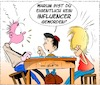 Cartoon: Influencer (small) by Trumix tagged youtube,channel,influencer,politic,diezerstoerungdercdu,wahlkampf,propaganda