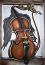 Cartoon: Red violin (small) by gartoon tagged violin,red,music,art,musical,instrument