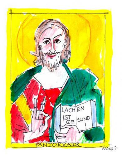 Cartoon: patokrator (medium) by NIL auslaender tagged johannes,evangelium