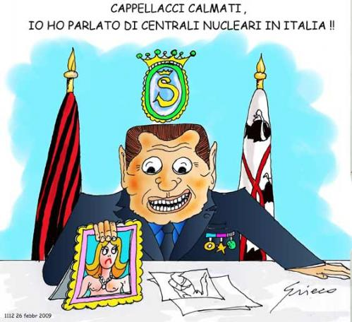 Cartoon: Nucleare (medium) by Grieco tagged grieco,berlusconi,centrali,nucleari,italia,sardegna