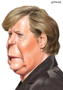 Cartoon: Angela Merkel (small) by penava tagged angela merkel karikatur caricature angie kanzlerin chancellor politikerin politician politics bundeskanzlerin