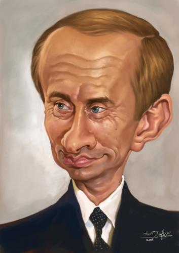Cartoon: Putin (medium) by Amir Taqi tagged putin
