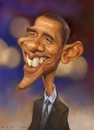 Cartoon: Barack Obama (small) by Amir Taqi tagged barack,obama