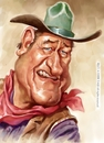 Cartoon: John Wayne (small) by Amir Taqi tagged john,wayne