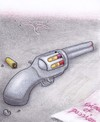 Cartoon: crime of passion (small) by Petra Kaster tagged crime,tod,leidenschaft,hass,eifersucht,frauen