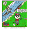 Cartoon: Schitz Creek (small) by yusanmoon tagged yu,san,moon,cartoon,infinity,hitler,nazis,jewish,schitz,creek,paddle,wwii