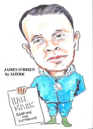 Cartoon: JAMES O BRIAN (medium) by jjjerk tagged james,brien,cartoon,cork,irish,ireland
