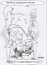 Cartoon: Did she say anything ? (small) by jjjerk tagged crash joke cartoon caricature car wife window broken
