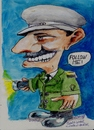 Cartoon: Follow me (small) by jjjerk tagged usher cartoon caricature green uniform braid movie cinema dublin irish ireland