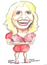 Cartoon: Meriam O Callaghan (small) by jjjerk tagged meriam,rte,red,prime,time,announcer,news,irish,ireland,cartoon,caricature,blue,blonde