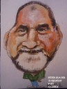 Cartoon: Peter Srager (small) by jjjerk tagged peter srager poet poetry rumania cartoon caricature beard green