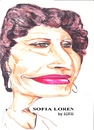 Cartoon: Sophia Loren (small) by jjjerk tagged sophia loren film star movie cartoon caricature italy actress