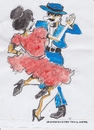 Cartoon: Spanish dance two (small) by jjjerk tagged spain,cartoon,caricature,dancers,dance,red,blue,hat