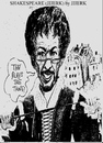 Cartoon: The plays the thing (small) by jjjerk tagged jjjerk cartoon shakespeare england globe theatre caricature mustache glasses