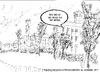 Cartoon: We must be mad to be here (small) by jjjerk tagged saint,senins,hospital,mental,mad,ireland,irish,cartoon,trees,sketch