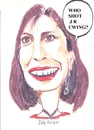 Cartoon: Who shot J R Ewing ? (small) by jjjerk tagged sue ellen ewing cartoon caricature linda gray