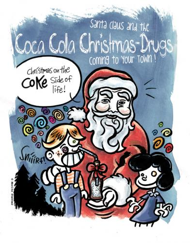 Cartoon: coke (medium) by moritz stetter tagged christmas,weihnachten,coke,drugs