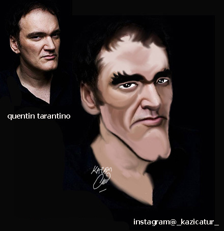 Cartoon: quentin tarantino (medium) by Hossein Kazem tagged quentin,tarantino