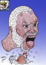 Cartoon: djibril cisse (small) by Hossein Kazem tagged djibril,cisse