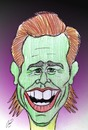 Cartoon: jim carrey (small) by Hossein Kazem tagged jim carrey