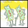 Cartoon: money (small) by Hossein Kazem tagged money