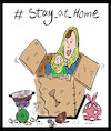 Cartoon: stay at home (small) by Hossein Kazem tagged stay,at,home