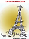 Cartoon: the terrorists in paris (small) by Hossein Kazem tagged the,terrorists,in,paris