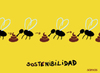 Cartoon: sustainability (small) by parentheses tagged flies,shit,nature,sustainable