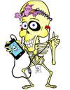 Cartoon: i - Phone Bone (small) by DaD O Matic tagged iphone skeletons pirates brains tunes 4g