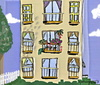 Cartoon: Apartment life (small) by tonyp tagged arp,arptoons,wacom,cartoons,tree,trees