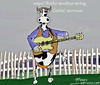 Cartoon: cow and his guitar (small) by tonyp tagged arp,cow,music,song,cows,blue,brain,bulb,tonyp,toys,american,toy,cook,cooking,food