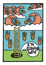 Cartoon: Level 1 (small) by baggelboy tagged game,fear,fire,hole,hide,monsters