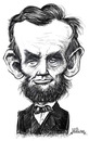 Cartoon: Abraham Lincoln (small) by William Medeiros tagged politicals