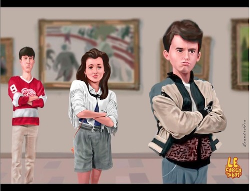 Cartoon: Ferris Bueller s Day Off (medium) by leandrofca tagged caricature