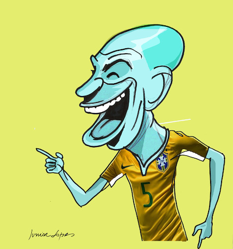 Cartoon: Fernandinho (medium) by juniorlopes tagged brazil,fernandinho,brazil,fernandinho