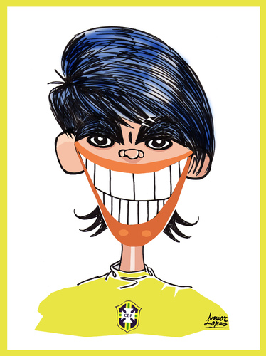 Cartoon: Kaka (medium) by juniorlopes tagged world,cup,2010,karikatur,karikaturen,fußball,fussball,fußballspieler,kaka