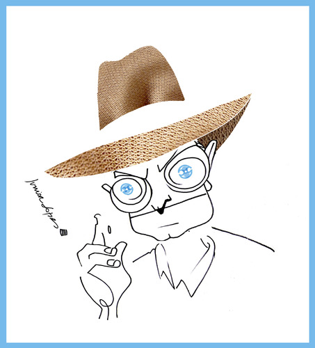Cartoon: Truman Capote (medium) by juniorlopes tagged capote,caricature