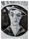 Cartoon: Buster Keaton (small) by juniorlopes tagged buster,keaton