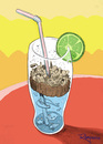 Cartoon: Cup of water (small) by Marcelo Rampazzo tagged water,polution,sea,rivers