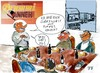 Cartoon: DAS PERFEkTe BRUMMI Dinner (small) by Florian France tagged brummi,kraftfahrer,lkw,fahrer,promi,dinner,das,perfekte,vox