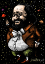 Cartoon: Luciano Pavarotti (small) by ivo tagged wow