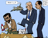 Cartoon: Dangerous Sandbox Games (small) by RachelGold tagged iran,israel,usa,netanyahu,ahmadinejad,obama,bombing,nuclear,units