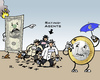 Cartoon: Dollar vs. Euro (small) by RachelGold tagged bench,market,us,dollar,euro,rating,agencies