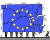 Cartoon: EU-xit? (small) by RachelGold tagged eu,gb,uk,separation,independence,collapse